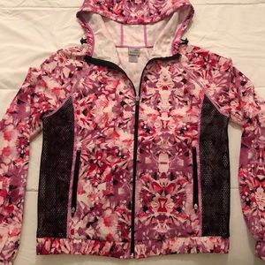C9 Champion Womens Woven Jacket Pink Floral Print